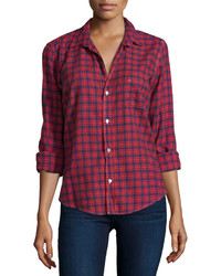 Frank eileen barry plaid long sleeve shirt red medium 417868
