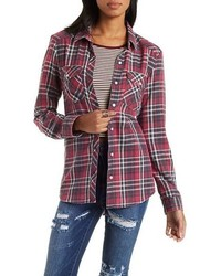 Charlotte Russe Plaid Button Up Shirt