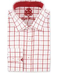 English Laundry Plaid Long Sleeve Dress Shirt Red