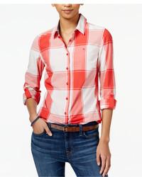 Tommy Hilfiger Plaid Print Shirt Only At Macys