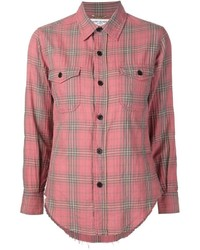 Saint Laurent Washed Plaid Shirt