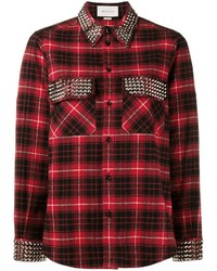 Studded plaid shirt medium 3639419