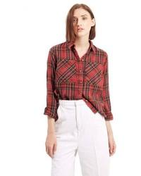 Topshop Tartan Plaid Shirt
