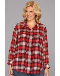 Vince Camuto Two By Plus Size Ls Plaid Utility Shirt Apparel