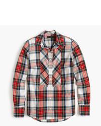 J.Crew Festive Plaid Button Up Shirt