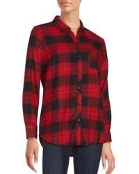 Cotton Blend Plaid Shirt