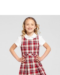 Cat Jack Girls Woven Plaid Jumper