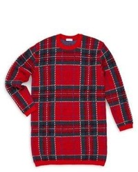 Dolce & Gabbana Little Girls Girls Plaid Sweater Dress