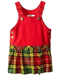 Junior Gaultier Overall Dress With Plaid Skirt Girls Dress