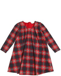 Dolce & Gabbana Plaid Printed Cotton Interlock Dress