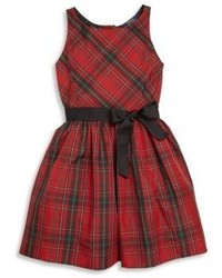 Ralph Lauren Toddlers Little Girls Girls Plaid Fit  Flare Dress