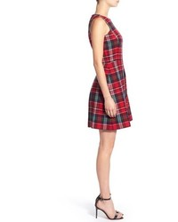 vineyard vines christmas tartan fit flare dress