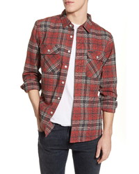 Brixton Bowery Plaid Button Up Flannel Shirt