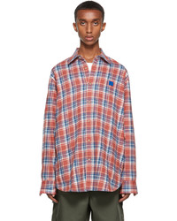 Acne Studios Red Blue Flannel Shirt
