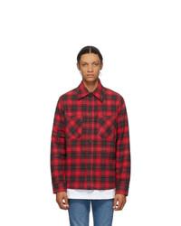 Off-White Red Flannel Stencil Shirt