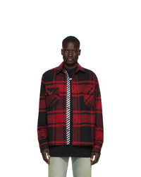 Off-White Black And Red Stencil Shirt