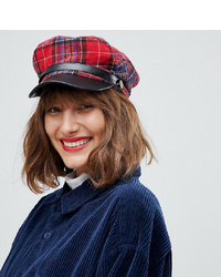 Aldo Ulilaclya Red Plaid Baker Boy Hat
