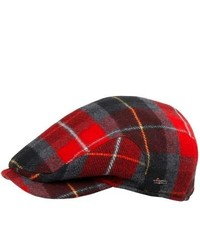 Wigens Buffalo Plaid Cap Wool Blend Red