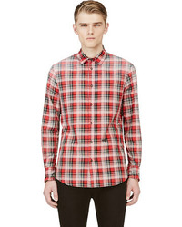 DSquared 2 Red Faded Plaid Shirt