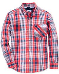 Tommy Hilfiger Everrett Plaid Shirt Big Boys