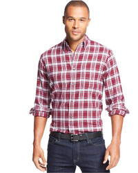 John Ashford Shirt Long Sleeve Plaid Flannel