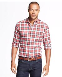 John Ashford Long Sleeve Plaid Flannel Shirt