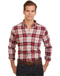 Nautica Plaid Flannel Button Down Long Sleeve Shirt