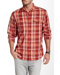Tommy Bahama Plaid Mesa Long Sleeve Regular Fit Shirt
