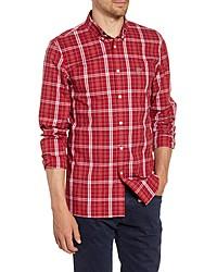 Lacoste Popeline Slim Fit Plaid Shirt