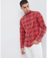 ONLY & SONS Regular Fit Washed Effect Check Shirt