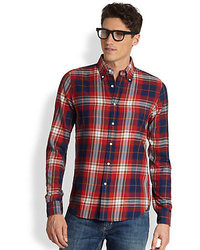 Gant Rugger Indigo Twill Plaid Shirt