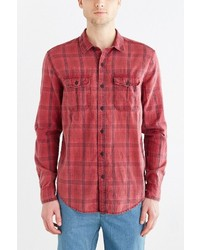 Urban Outfitters Salt Valley Acid Washed Plaid Button Down Workshirt