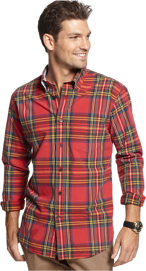 Mens red plaid shirt south park t shirts for Red and white plaid shirt mens