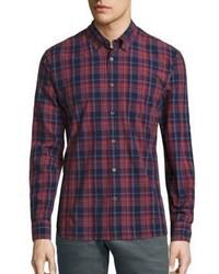 John Varvatos Star Usa Plaid Button Down Shirt