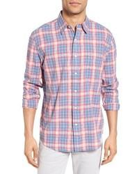 Ventura trim fit plaid sport shirt medium 3685176