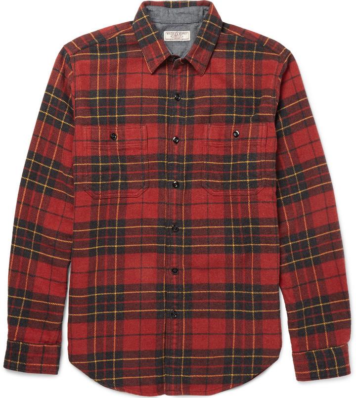 70084edff2eee ... j crew wallace barnes lenox checked cotton flannel shirt 120 mr ...
