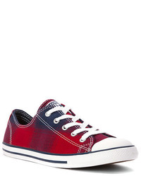 Chuck taylor plaid dainty low top sneaker medium 346264