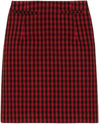 Marni Checked Woven Skirt