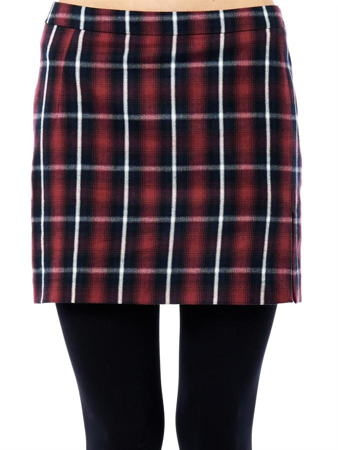 b69fc00722 No.21 No 21 Plaid Print Mini Skirt, $356 | MATCHESFASHION.COM ...