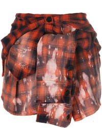 Plaid shirt effect mini skirt medium 5259568