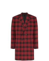 Red Plaid Overcoat