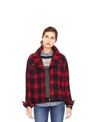 Fossil Morgan Cocoon Jacket Wc525843810 Color Red Plaid