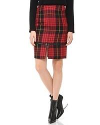 MCQ Alexander Ueen Plaid Zip Skirt