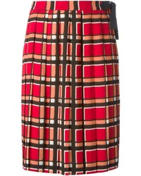 Marc by Marc Jacobs Toto Plaid Pattern Skirt