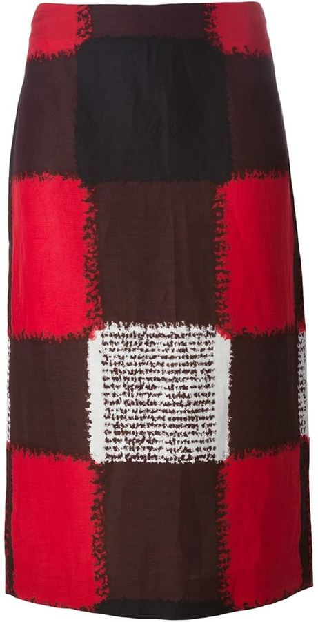 Marni Checked Skirt
