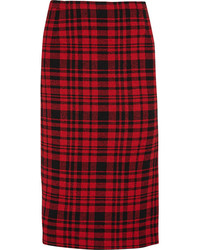 No.21 No 21 Plaid Cotton And Linen Blend Skirt