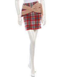 Rodarte Plaid Peplum Skirt