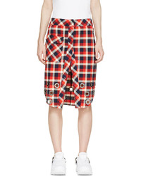 Filles a papa Red Navy Checkered Skirt