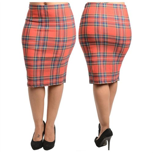Stanzino Plus Size Plaid Pencil Skirt | Where to buy & how to wear
