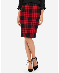 The limited plaid pencil skirt medium 1101402